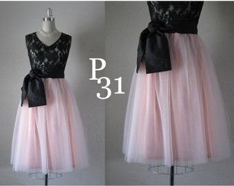 Blush 4 Layer Tulle Skirt with Lining. Custom your size and length. 27 in. or lower. Add layers 5.00