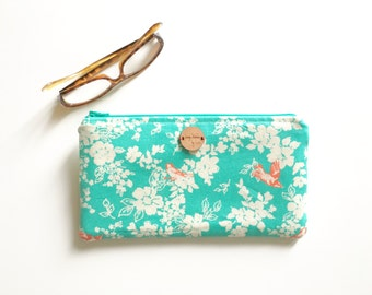 floral clutch, pencil pouch, makeup bag, pencil bag, clutch bag, cosmetic bag, bridesmaid, travel bag, school supplies, back to school