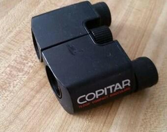Vintage Copitar 7Look Compact Binoculars Black 1980s Field 6 Made in Japan