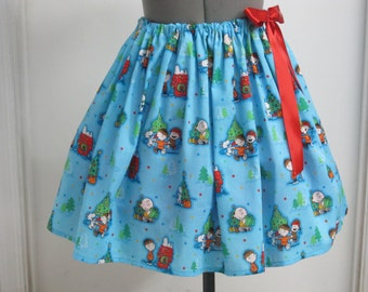 Charlie Brown and Friends Christmas Sexy Skirt with a Red bow - Great for a Christmas Party