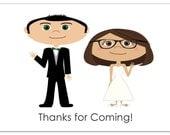 Wedding Gift Tag, Wedding Welcome Bag Tags, Wedding Gift Bag, Custom Cartoon Portrait, Custom Gift Tag, Wedding Thank You Tag, Wedding Favor