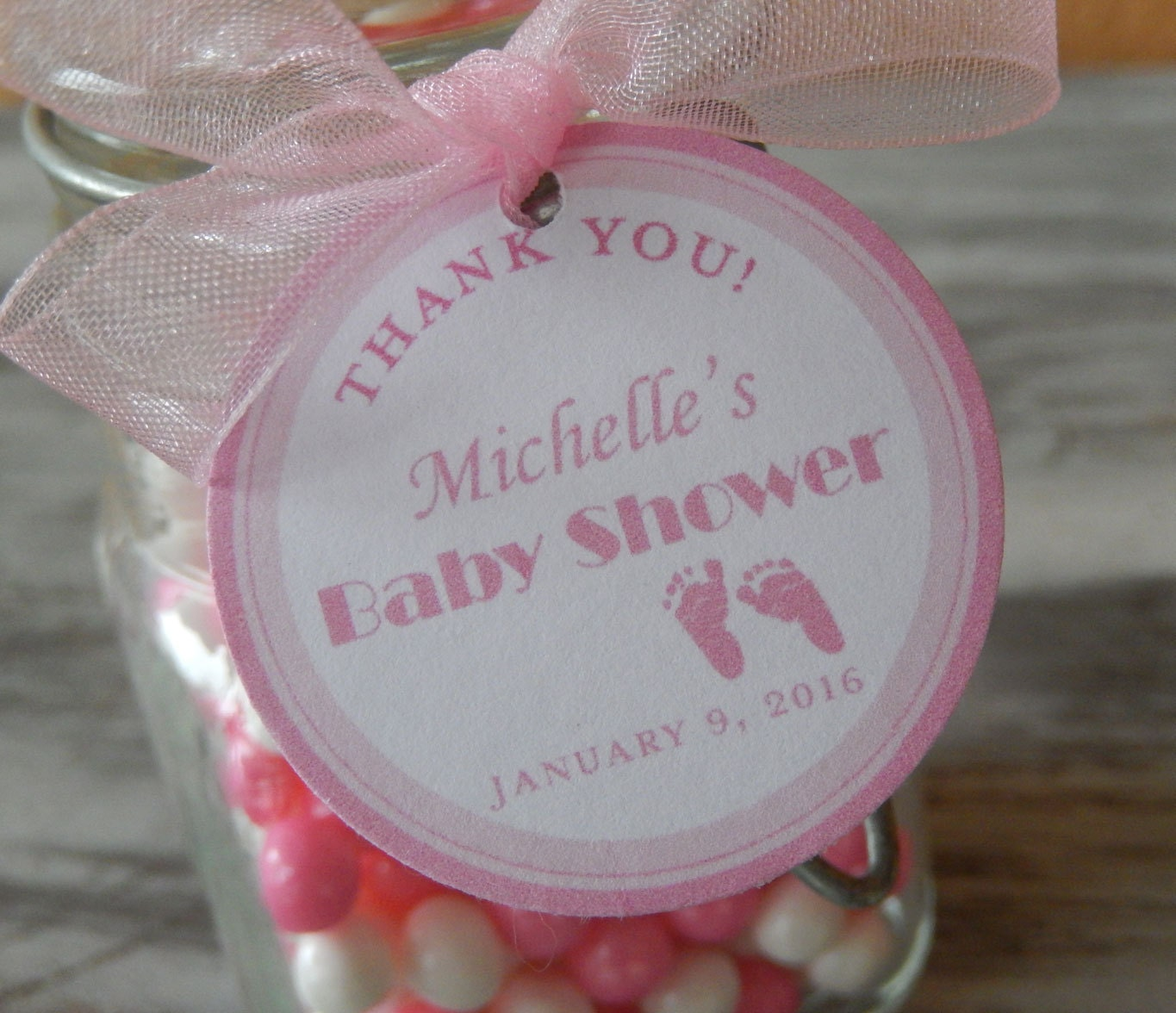 Baby Shower Thank You Custom Paper Favor Tags For Cake Pops