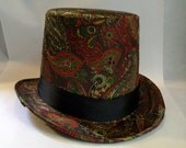 Autumn Paisley Steampunk Top Hat