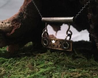 Cuss Yeah Brass Pendant Necklace