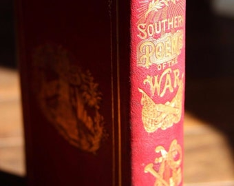 Southern Poems of The Civil War BOOK Property of Confederate General Wm Mahone