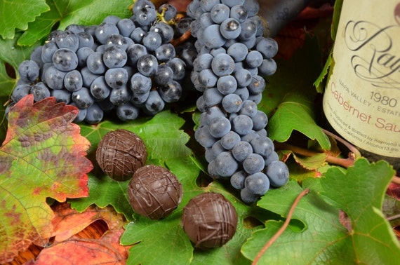 Chocolate Truffles, Cabernet, Wine Truffles, Dark Chocolate Truffles, Wine Chocolate, Chocolate Wine, Gifts for Him, Hostess Gift
