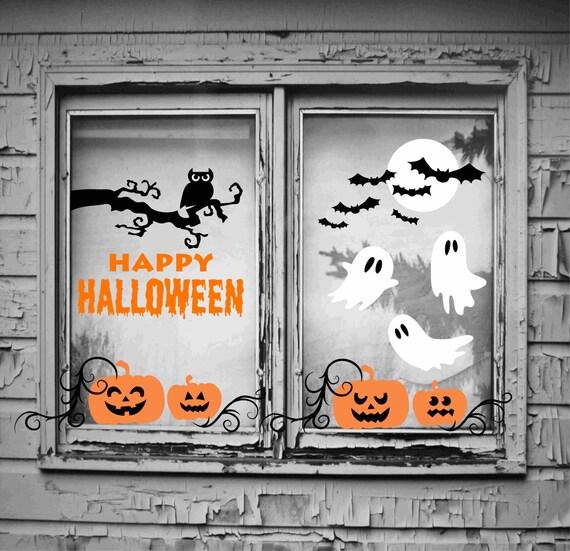 halloween window decorations halloween window decals halloween wall decals halloween wall decor - Halloween Wall Decor