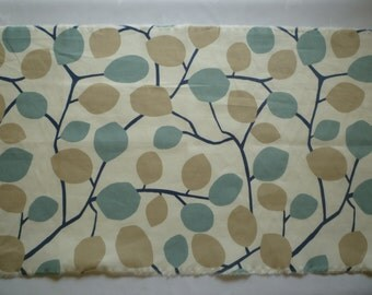 4 Robins Blue Napkins Funky Retro Beige Brown Floral Fabric washable ANY of MY DESIGNS