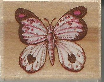 Mini Butterfly Stamp  --  NEW --  Wood Mounted Rubber Stamp  --  Rubber Stampede Brand  --  (#1468)