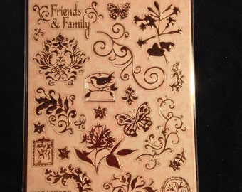 K & Company Embossed Stickers -- SW Floral Foil  -- NEW --  embossed foil stickers  (#1504)