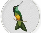 INSTANT DOWNLOAD,Free shippingCounted Cross-Stitch PDF,hummingbird pattern,zxxc0870