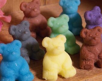 bear soap glycerin soap set of 2 bears mini soaps guest soaps