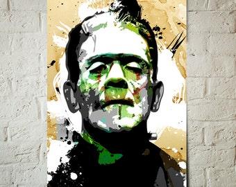 Frankenstein, Fan Art Print, Gothic, Movie, Monster, Gothic Art, Frankenstein Decor, Movie Poster, Monster Art, Gothic Decor, Gift Idea