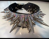 Rainbow Hologram Ultra Spiked Collar