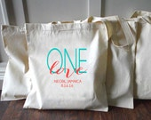 10+ One Love Jamaica Custom Canvas Wedding Tote Bags - Eco-Friendly Natural Cotton Canvas