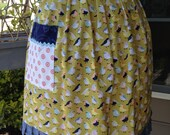 Bird Themed Handmade Half Apron