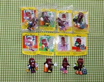 California Raisins set of 4 Limited Edition Series Benny Buster Alotta Stile and Anita Break early 90's including descriptive cards