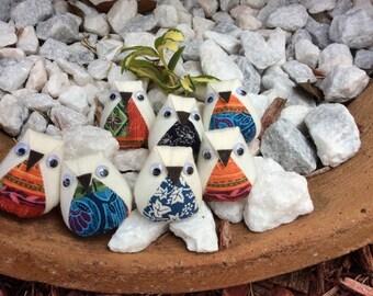 7 mini plush owls plush owl favors owl baby shower - Lot 5