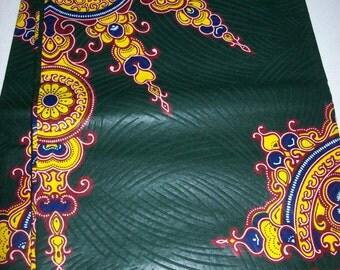 Dark Green Color Star Shaped dashiki fabric 6 yards wholesale/ Angelina fabric/ Dashiki/ Dashiki skirt fabric/dashiki dress