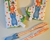 Jungle Book, Baloo, Mowgli and King Loui Curved Suck Pads with Baloo Plush Reach Straps