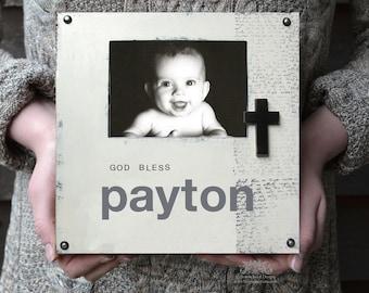 Personalized Baptism Frame, Baptism or First Communion Keepsake, Godchild Gift, New Baby Gift, Christening Keepsake