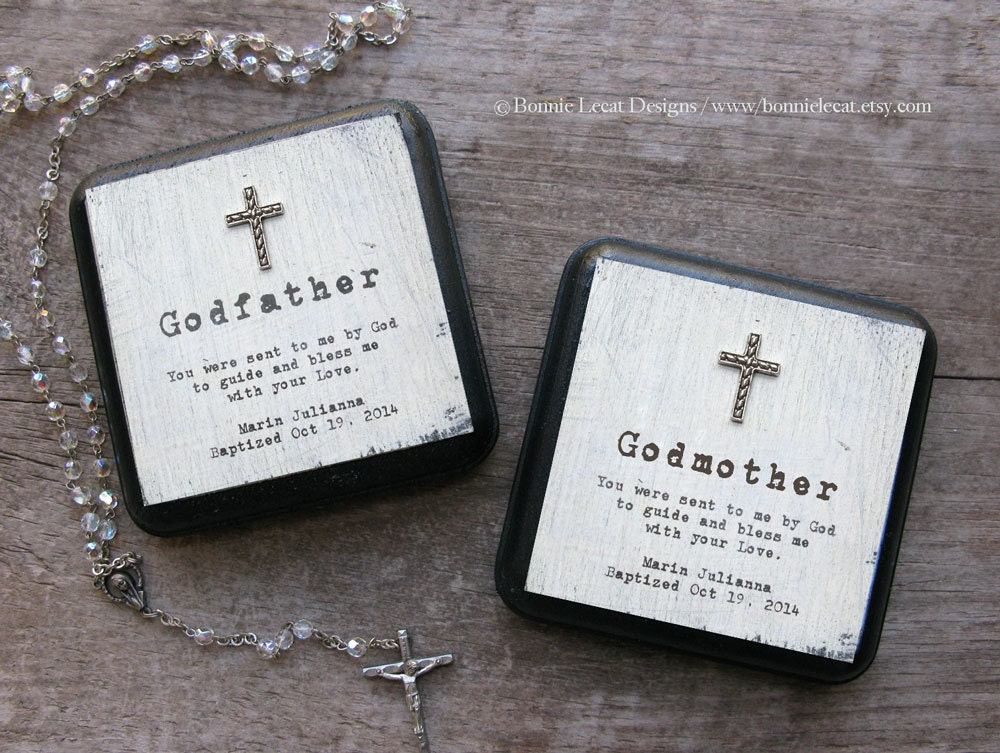 Gift For Godmother Godmother Gift Mothers Day Gift: Personalized Baptism Gift Set Godmother Gift Godfather Gift