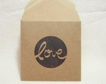 Valentine's Day Envelopes, Valentine's Day Love, Love Envelopes and Notecards, Love Notes, Mini Love Envelopes