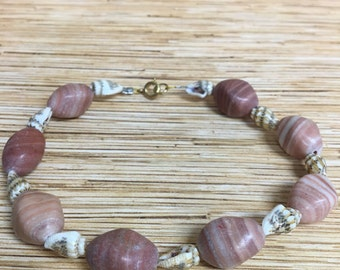 Stone & Shell Anklet