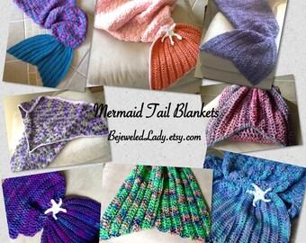 Mermaid Blanket, Crochet Mermaid Tail Blankets, Kids Mermaid Blankets, Mermaid Baby, Crocheted Mermaid Fins, Mermaid Wraps, Lightweight Yarn
