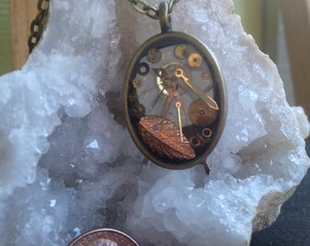Autumn Stopped Watch Pendant