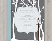 Baby Shower Invitation - Winter Wonderland - Narnia - Printable