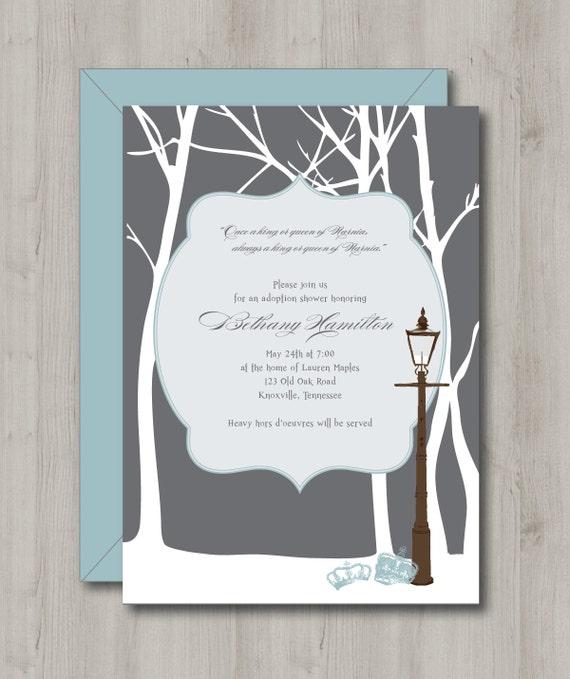 baby shower invitation winter wonderland by iheartpaperandthread
