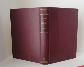 Vintage Book Studies on Book One of The PSALMS H A Ironside 1952 4th Printing 1966 Hardcover Dust Jacket Religious Reference Religion Bible