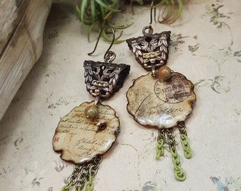 Postcards & Letters - Art Jewelry Earrings
