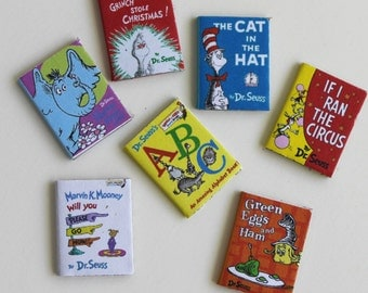 Miniature Children's Books  Set of Seven in Dollhouse 1:12 Scale