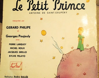 "VINTAGE 10"" 33 RPM Le Petit Prince, Gerard Philipe & Georges Poujouly, by the now defunkt company named Disques Festival from the 1950s"