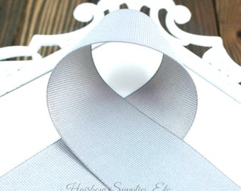 Gray Solid Ribbon 1-1/2 inch - Choose from 1-50 yd - Light Silver Grosgrain Ribbon - Gray Ribbon, Grey Ribbon - Hairbow Supplies, Etc.