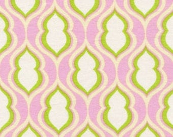 Heather Bailey - Nicey Jane - Pocketbook in Rose - pink green retro geometric print - cotton quilting fabric - choose your cut