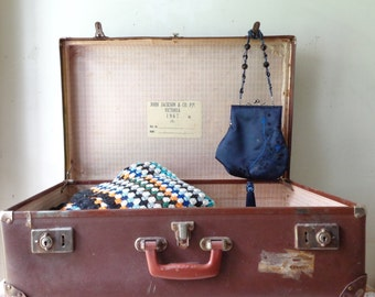 VIntage John Jackson and Co Vulcanite Suitcase