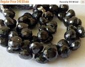 50% ON SALE Black Spinel, Black Spinel Faceted Onion Beads, Spinel Briolettes, Black Beads, Spinel Necklace, 8mm, 12 Pieces