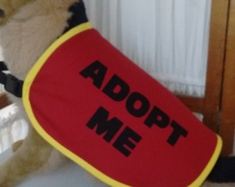 Dog Adopt Me Vest EXTRA LARGE