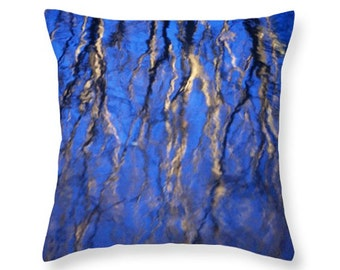 Reflection on the Water of Tree Branches along the Riverwalk in San Antonio nature decorative novelty throw pillow Home Décor cushion cover