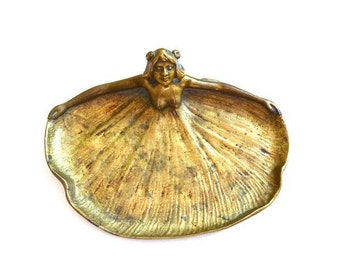 1902 Art Nouveau Card Holder/ Nymph