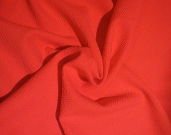 ON SALE SPECIAL--Coral Herringbone Design Woven Polyester Fabric--By the Yard
