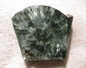 Green Chatoyant Shiny Seraphinite Angel Stone Slab Wire Wrap Cutting Material