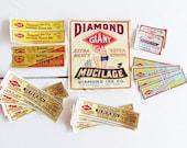 RESERVED FOR Karen 21 Vintage Diamond Ink Bottle Labels . Milwaukee Wisconsin . New Old Stock NOS
