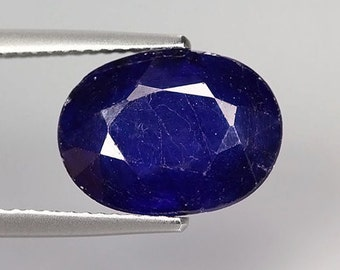 SAPPHIRE (22057)  Blue Sapphire 12 x 9mm Oval  - Madagascar - Faceted
