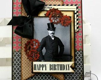 Happy Birthday Masculine Greeting Card Handmade