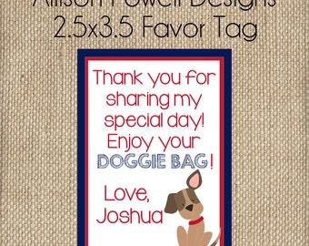 Puppy-Dog-Puppy Dog Birthday Party Favor Tag - Doggie Bag Tag