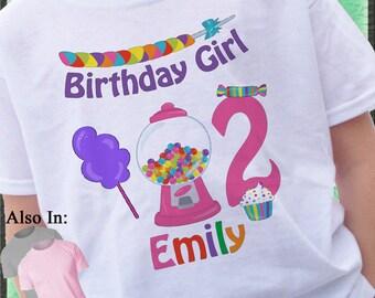 Candy Shirt - Birthday Candy Shirt - Candyland Personalized Shirt - Candy Birthday Shirt - Birthday Party Shirt Candyland Shirt